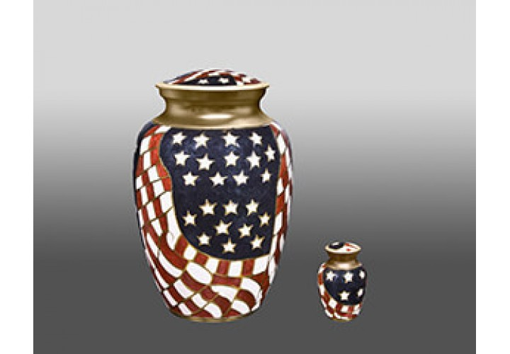 Old Glory + $49 for Token Keepsake Urn